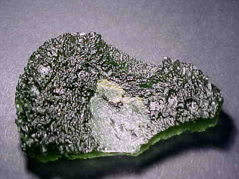 Moldavite Tektite Specimens (natural moldavites)