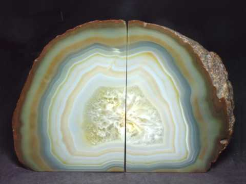 Large Image of agah147_agate-bookends