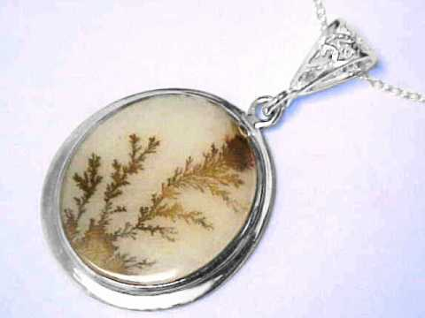 Dendritic Agate Jewelry, Pendants, and Necklaces