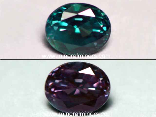 Color Change Alexandrite Gemstones