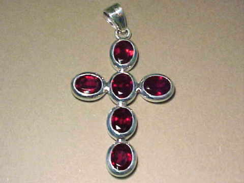 Large Image of almj109x_red-garnet-cross-jewelry