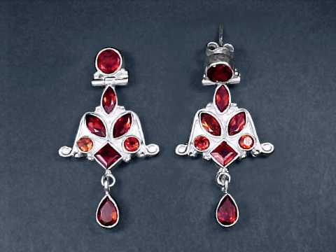 Large Image of almj116x_red-garnet-earrings