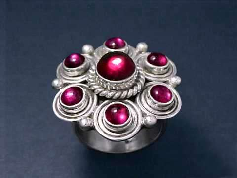 Large Image of almj119x_red-garnet-ring