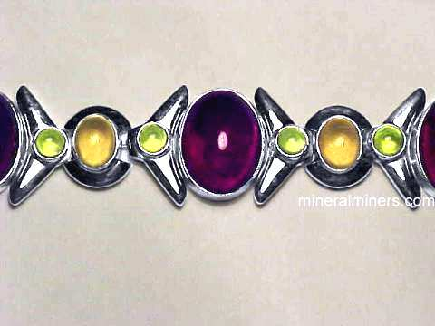 Large Image of almj136_red-garnet-bracelet