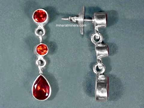 Large Image of almj142x_red-garnet-earrings
