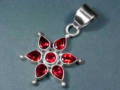 Large Image of almj145_red-garnet-jewelry