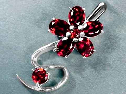 Large Image of almj146_red-garnet-jewelry