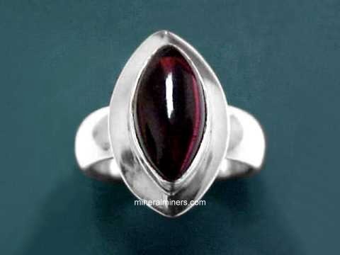 Large Image of almj157_red-garnet-ring