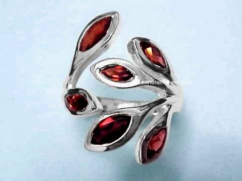 Large Image of almj158_red-garnet-ring