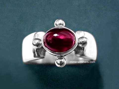 Large Image of almj159_red-garnet-ring