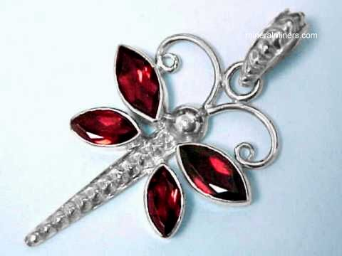 Large Image of almj161_red-garnet-jewelry