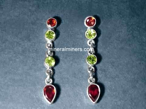 Large Image of almj165_red-garnet-earrings