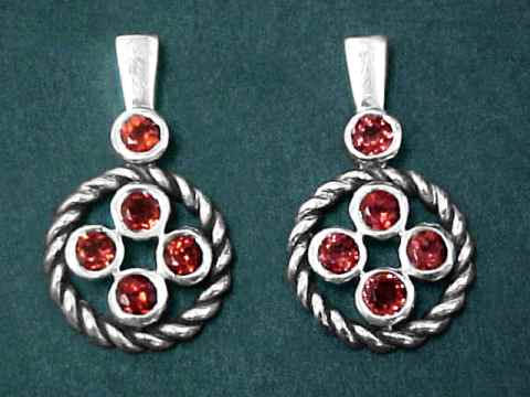 Large Image of almj168_red-garnet-earrings