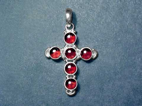 Large Image of almj171_garnet-cross-jewelry
