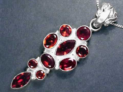 Large Image of almj178_red-garnet-jewelry