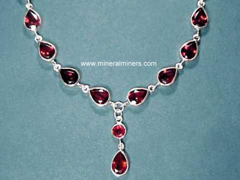 Large Image of almj180_red-garnet-necklace