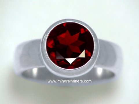 Large Image of almj187e_red-garnet-ring