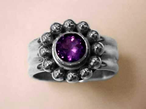 Large Image of amej260_amethyst-ring