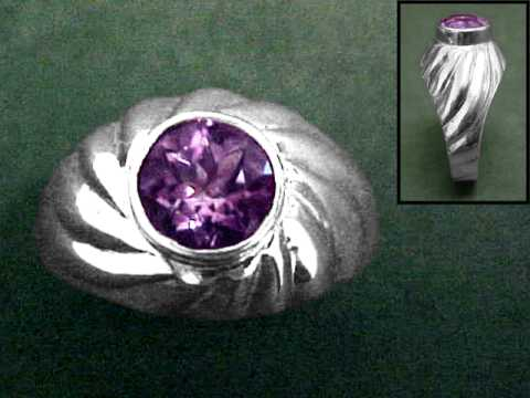 Large Image of amej265_amethyst-ring