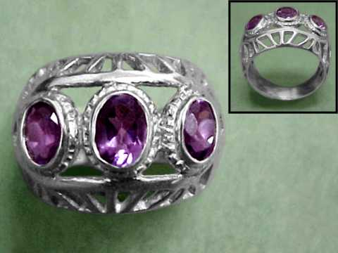 Large Image of amej295_amethyst-ring