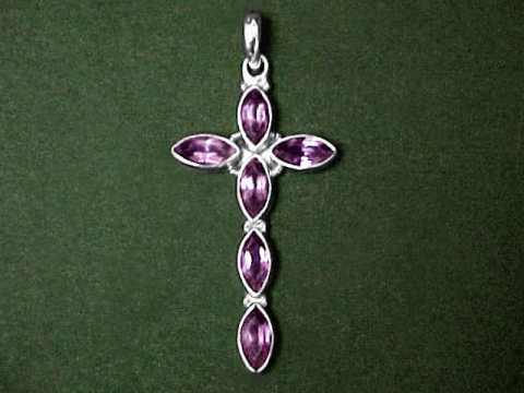 Large Image of amej316_amethyst-cross-jewelry