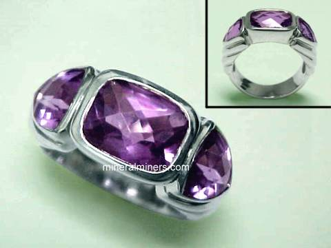 Amethyst Rings (natural color amethyst rings)