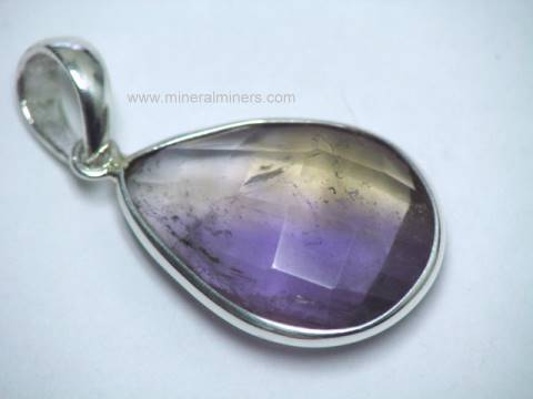 Ametrine Jewelry: earrings & necklaces
