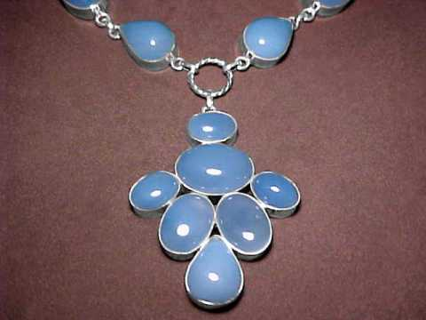 Large Image of chlj147_chalcedony-necklace