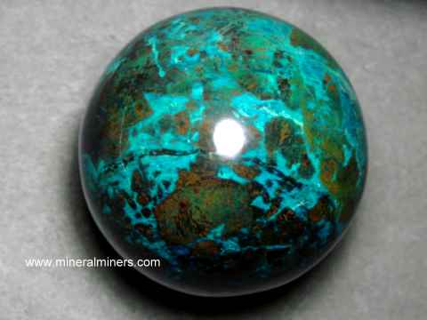 Chrysocolla Spheres: Chrysocolla Mineral Spheres
