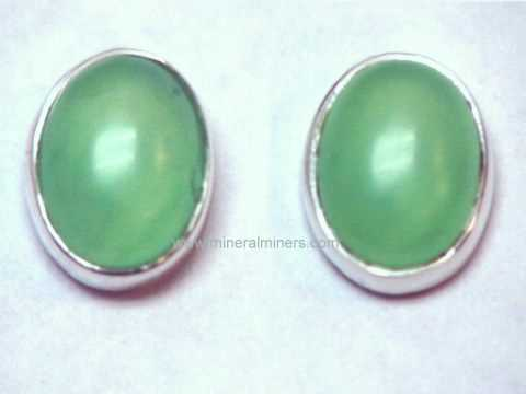Natural Chrysoprase Jewelry: Chrysoprase Earrings