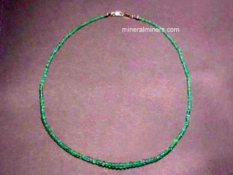 Dark Green Emerald Disk Ring