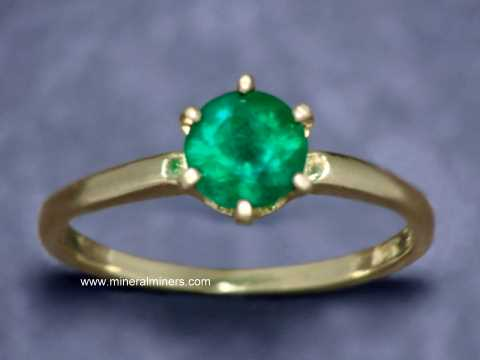 Large Image of emej236a_emerald-ring