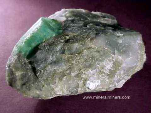 Emerald Mineral Specimens and Emerald Crystals
