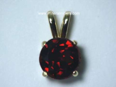 Mozambique Red Garnet Jewelry in 14k Gold