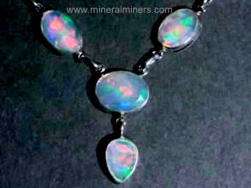 Opal Necklace: Natural Ethiopian Opal Necklace