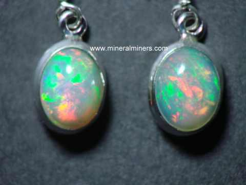 Opal Earrings: Ethiopian Opal Earrings