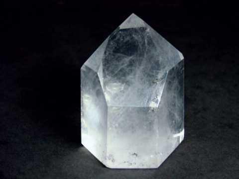 clear quartz crystals and milky quartz crystals rock