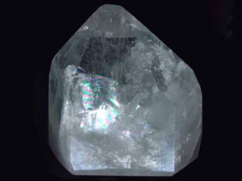 Rainbow crystals rock quartz crystals rock