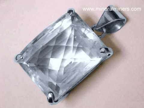 Rock Crystal Quartz Jewelry: pendants, rings, necklaces & bracelets