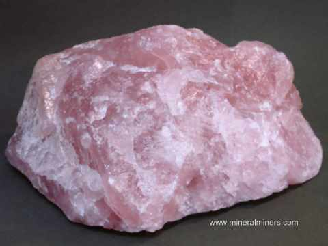 rose quartz mineral specimens