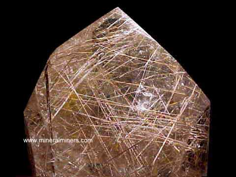 Rutile in Quartz Crystal