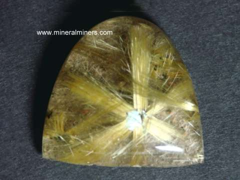 Golden Rutilated Quartz Gemstone