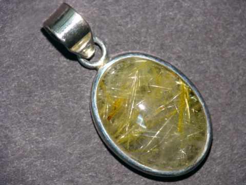 Rutilated quartz jewelry natural golden rutile in quartz for Golden rutilated quartz jewelry