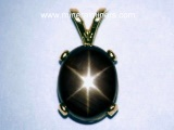 Black Star Sapphire Jewelry: Pendants, Earrings, Necklaces and Rings