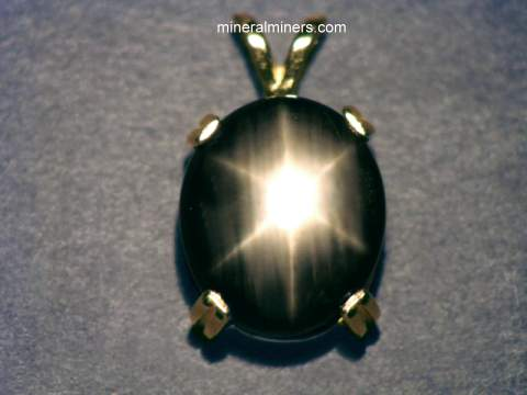 Black Star Sapphire Necklaces and Jewelry