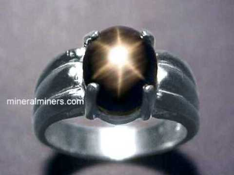 Star Pink And Black Black Star Sapphire Ring