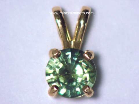 Green Sapphire Jewelry and Earrings