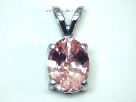 Padparadscha Sapphire Jewelry: genuine padparadscha necklaces and padparadscha rings
