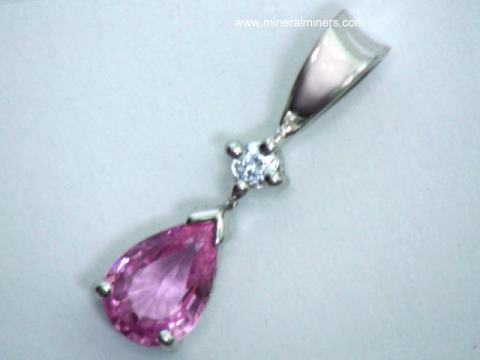 Pink Sapphire Jewelry: GIA Certified Natural Pink Sapphire Pendants, Rings, Necklaces and Earrings