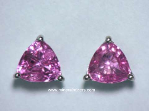 Large Image of spkj149_pink-sapphire-earrings